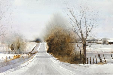 "Dean Mitchell Hand Signed and Numbered Limited Edition Giclee on Paper:""Snow Hills"""