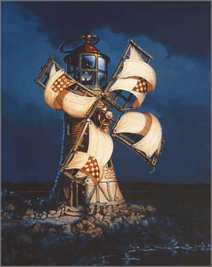 "Dean Morrissey Artist Hand Signed Open Edition Canvas Giclee:""Giant's Lantern, The"""