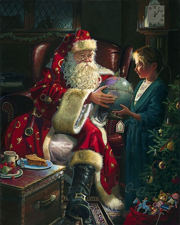 """Dean Morrissey Handsigned and Numbered Limited Edition Print:""""One Christmas Eve"""""""