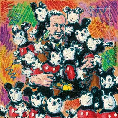 """Dick Duerrstein Disney Fine Art Limited Edition Giclee on Canvas:""""Walt and Friends"""""""
