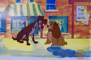 """Disney Animation Sericel: """"Lady And The Tramp"""""""