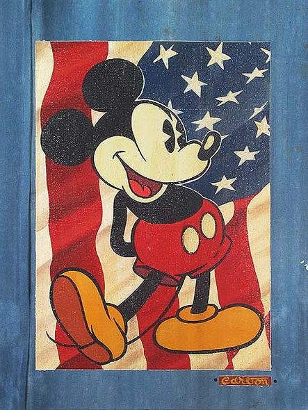 """Disney Fine Art Holiday Collection: Independence Day by Trevor Carlton: """" Red, White and Blue Jeans"""""""