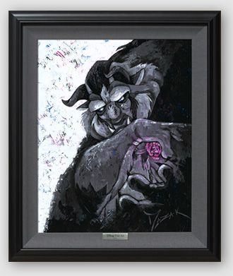 "Disney Framed Limited Edition Canvas Giclee:""Bitter, Sweet and Strange"" by Trevor Mezak"