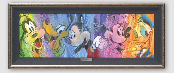 "Disney Framed Limited Edition Canvas Giclee:""Colorful Personalities"" by Stephen Fishwick"