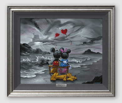 "Disney Framed Limited Edition Canvas Giclee:""Mickey and Minnie Forever Love"" by Jim Warren"