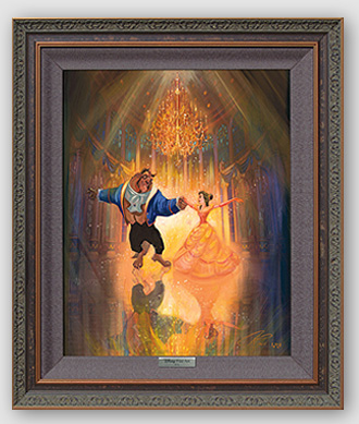 """Disney Framed Limited Edition Canvas Giclee:""""The Perfect Dance"""" by John Rowe"""