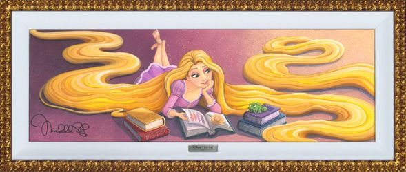 """Disney Framed Limited Edition Canvas Giclee:""""World of Fairy Tales"""" by Michelle St.Laurent"""