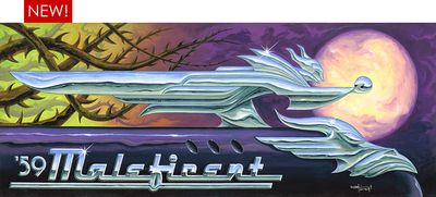 """Disney Maleficent Fine Art Limited Edition Mike Kungl Giclee Canvas:""""59 Maleficent """""""