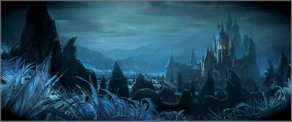 """Disney's Beauty and the Beast Limited Edition Gallery Wrap Canvas Giclee:""""Shadows of Beast's Castle"""""""