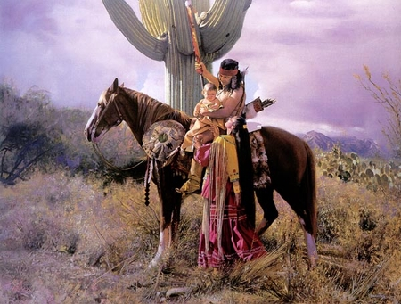"""Don Crowley Limted Edition Giclee  Canvas w/ Collector book:""""Appache Farewell"""""""