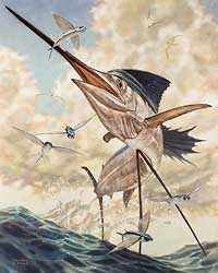 """Don Ray Handsigned and Numbered Limited Edition Print: """"Flying High"""""""
