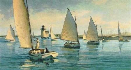 "Donald Demers Limited Edition Print:""Nantucket Afternoon"""