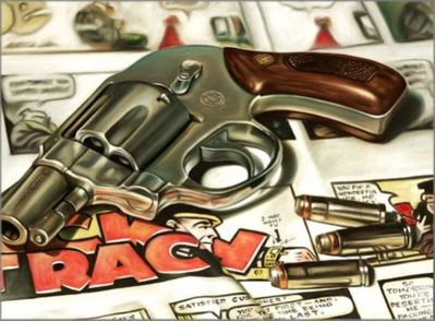 """Doug Bloodworth limited edition giclée on canvas:""""Dick Tracy"""""""