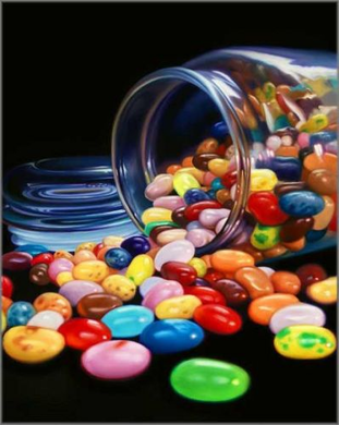 "Doug Bloodworth limited edition giclée on canvas:""Jelly Beans"""