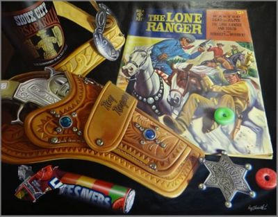 "Doug Bloodworth limited edition giclée on canvas:""Lone Ranger, The"""