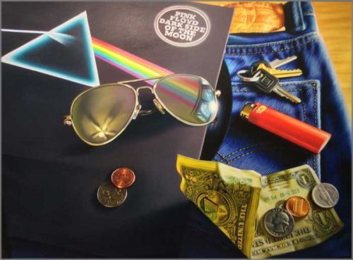 "Doug Bloodworth limited edition giclée on canvas:""Pink Floyd"""
