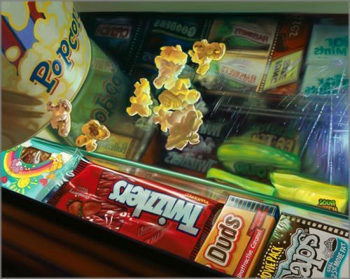 "Doug Bloodworth limited edition giclée on canvas:""Popcorn"""