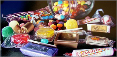 "Doug Bloodworth limited edition giclée on canvas:""Smarties"""