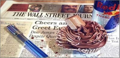 "Doug Bloodworth limited edition giclée on canvas:""Wall Street Journal, The"""
