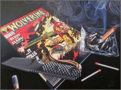 """Doug Bloodworth limited edition giclée on canvas:""""Wolverine"""""""