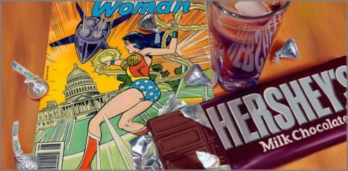 "Doug Bloodworth limited edition giclée on canvas:""Wonder Woman"""