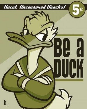 """Doug Day Handsigned and Numbered Limited Edition Giclée on Canvas:""""Be a Duck"""""""