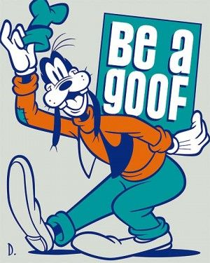 "Doug Day Handsigned and Numbered Limited Edition Giclée on Canvas:""Be a Goof"""