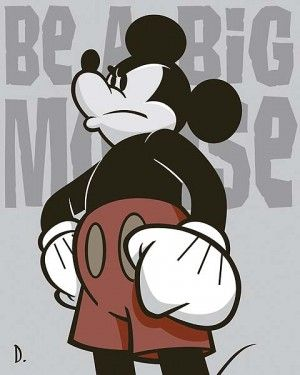 "Doug Day Handsigned and Numbered Limited Edition Giclée on Hand-Applied Pearlescent Coated Canvas:""Be a Big Mouse"""