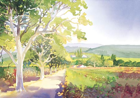 """Douglas Chun Signed and Numbered Limited Edition Giclée on Somerset Velvet Paper:""""Valley Light I"""""""