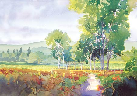 "Douglas Chun Signed and Numbered Limited Edition Giclée on Somerset Velvet Paper:""Valley Light II"""