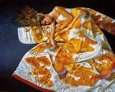 """Douglas Hofmann Hand-signed Limited Edition Serigraph on Canvas:""""Bird of Paradise"""""""