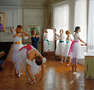 """Douglas Hofmann Hand-signed Limited Edition Serigraph on Canvas:""""Miss Mary's Class """""""