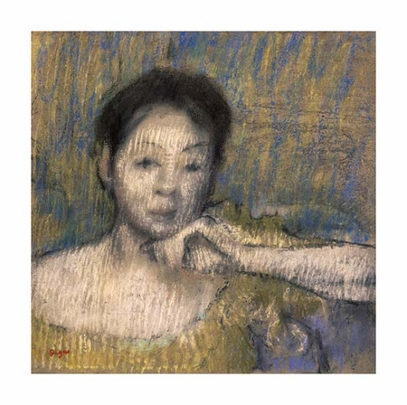 """Edgar Degas Fine Art Open Edition Giclée:""""Bust of a Woman with Her Left Hand on Her Chin"""""""