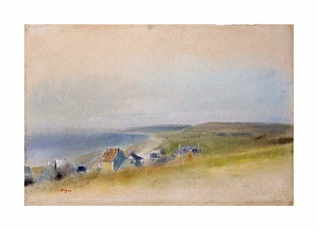 "Edgar Degas Fine Art Open Edition Giclée:""Houses on the Cliff Edge at Villers-Sur-Mer"""