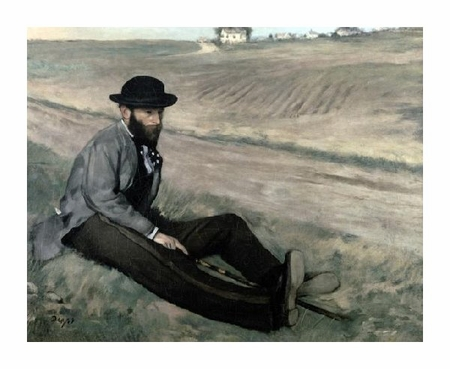 "Edgar Degas Fine Art Open Edition Giclée:""Portrait of Eugene Manet"""