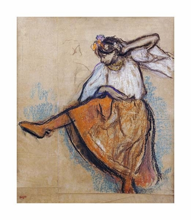 "Edgar Degas Fine Art Open Edition Giclée:""The Russian Dancer"""