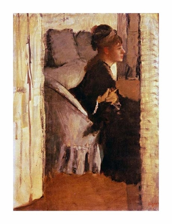 "Edgar Degas Fine Art Open Edition Giclée:""Woman Putting on Her Gloves"""
