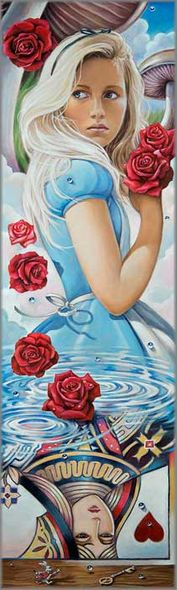 """Edson Campos Hand-Embellished Limited Edition Canvas Giclee:""""Reflections of Wonderland"""""""
