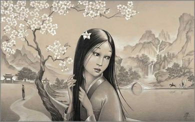 "Edson Campos Hand Signed and Numbered Limited Edition Giclee on Paper:""Mulan"""