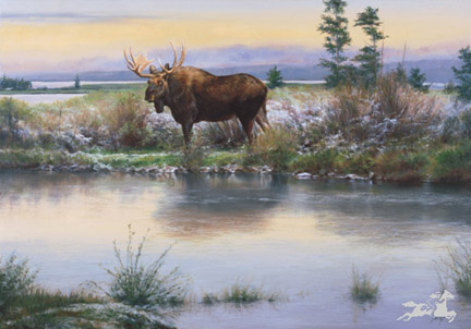 """Edward Aldrich Handsigned & Numbered Limited Edition Print:""""Evening's Approach"""""""