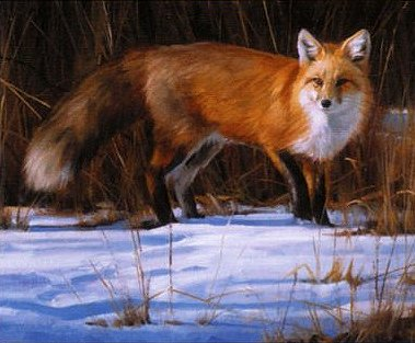 "Edward Aldrich Handsigned & Numbered Limited Edition Print: ""Fox on the Run"""