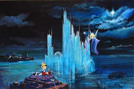 """Ellenshaw Handsigned & Numbered Limited Edition Giclee on Canvas:""""Blue Castle"""""""