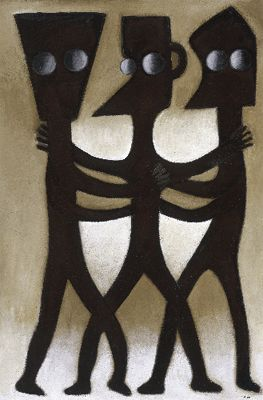 "Ephrem Kouakou Limited Edition Signed Giclee on Paper:""Untitled IV"""