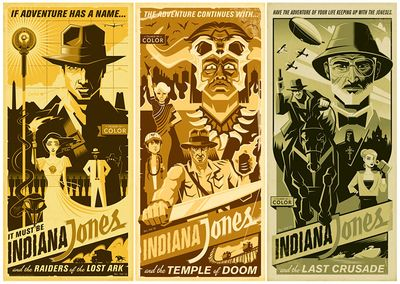 """Eric Tan Limited Edition Gallery Wrap Canvas Giclee:""""Indy Adventure (Set of 3)"""""""