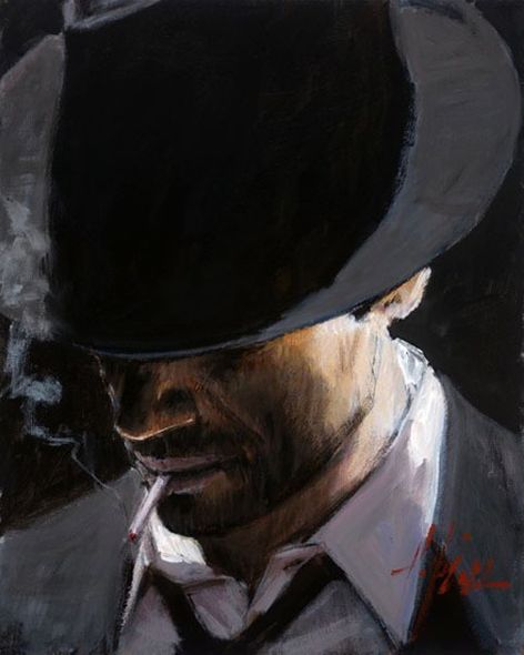 """Fabian Perez Hand Signed and Numbered Limited Edition Giclee on Canvas:""""Black Hat"""""""