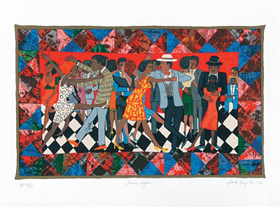 """Faith Ringgold Limited Edition Signed Serigraph Ed. 425:""""Groovin' High"""""""