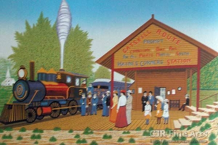 """Fanch Ledan Hand Signed and Numbered Limited Edition Paper Lithograph:""""Catskill Station"""""""