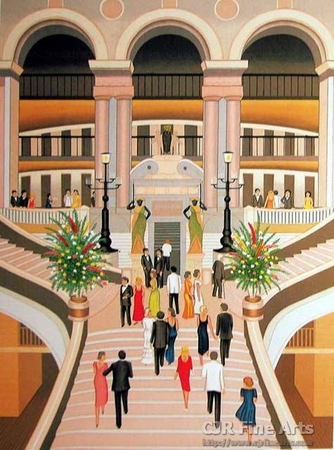 """Fanch Ledan Hand Signed and Numbered Limited Edition Paper Lithograph:""""L'Opera de Paris"""""""