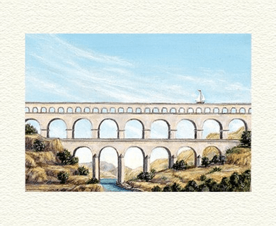 "Fanny Brennan Limited Edition Hand-Crafted Lithograph: "" Aqueduct """