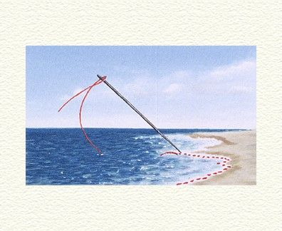 """Fanny Brennan Limited Edition Hand-Crafted Lithograph: """" Basted Waves """""""